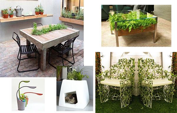 Мебель с элементами озеленения