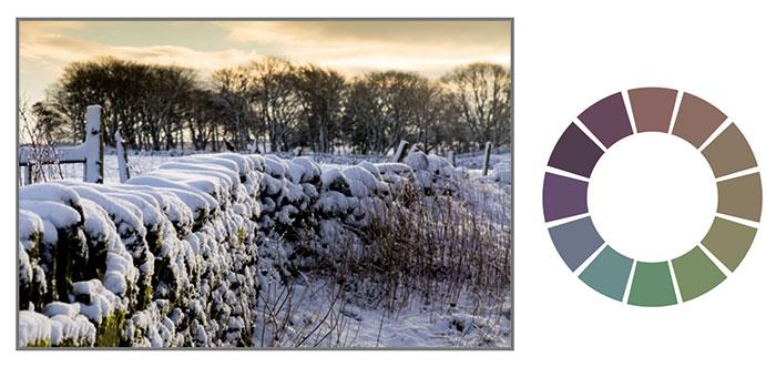 Оттенки в зимних пейзажах