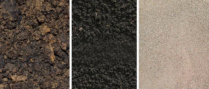 Огородная земля, перегной, речной песок